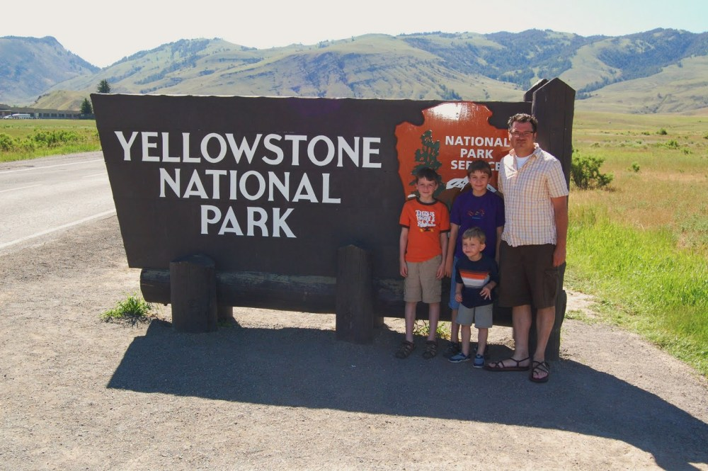 Yellowstone National Park with the Boys