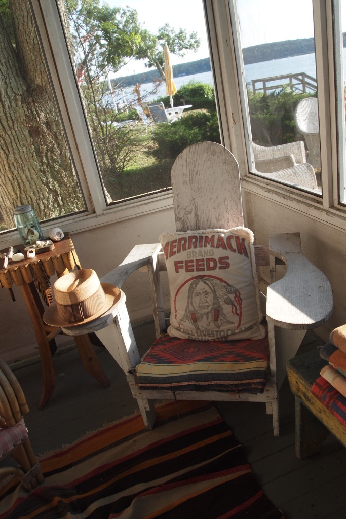 Adirondack Chair on the Patio at Seaweed's Beach House
