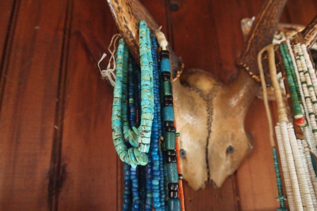 Beads Hanging off of Antlers at Seaweed's Beach House