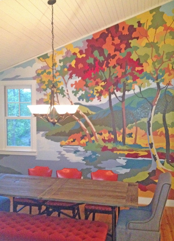 Blue Ridge Mountains Paint by Nunber Mural