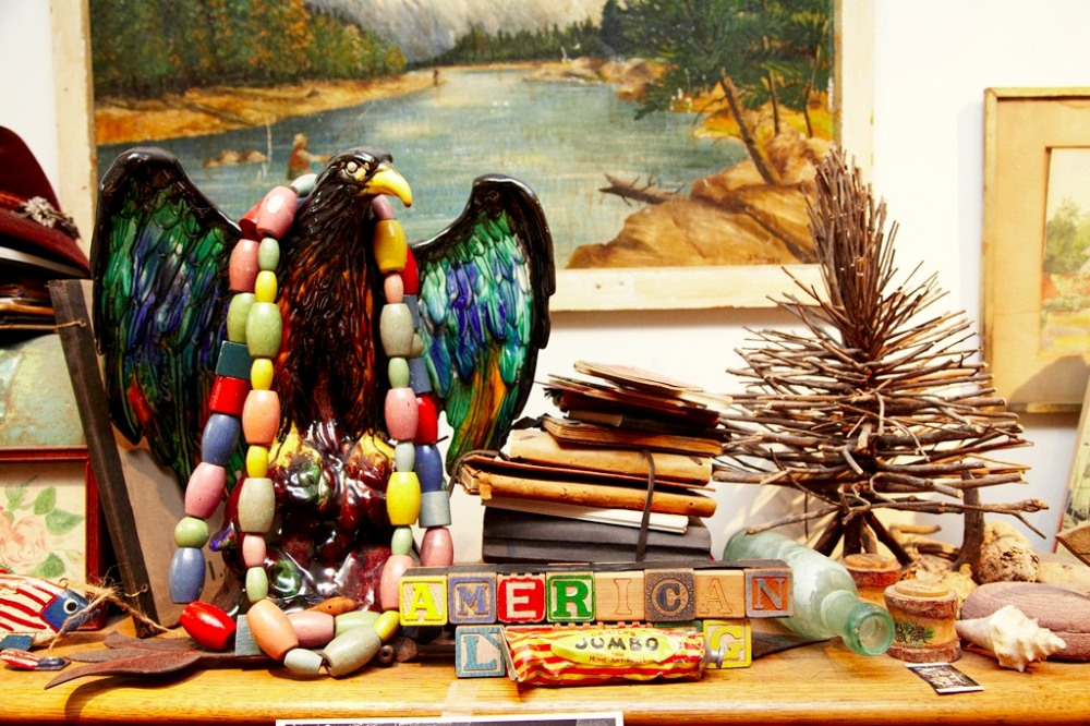 Eagle and Beads on Top of Carter's Desk