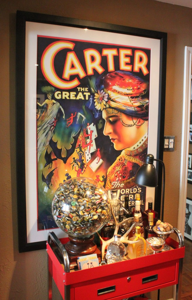 Framed Carter over the Bar Cart