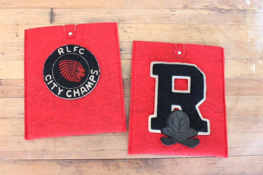 Felt iPad Covers with Chenile Patches