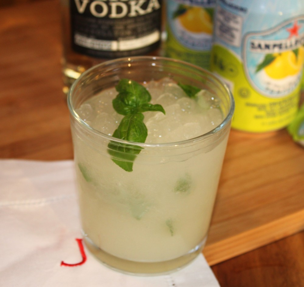 Basil, Grapefruit San Pellegrino, Western Son Vodka Summer Cooler