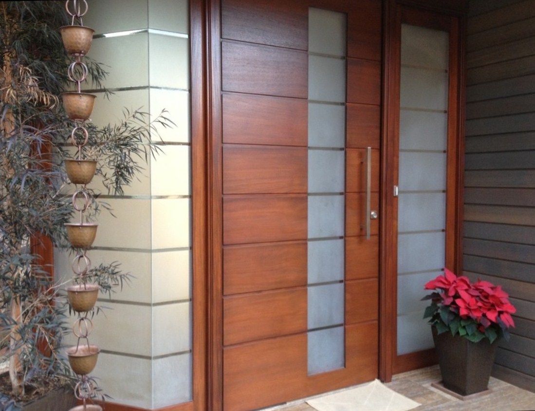 Modern glass front doors for homes - Modern Pivot Door