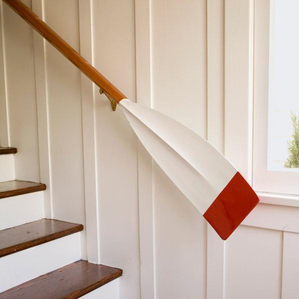 Oar as Handrail on Stairs