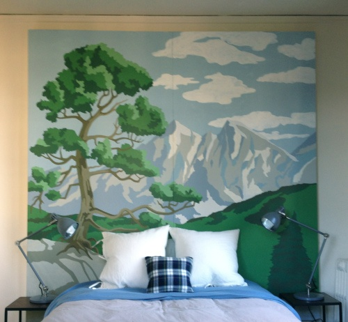 Paint By Numbers As a Giant Headboard
