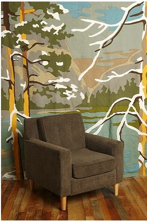 Paint by Numbers Trees with Chair