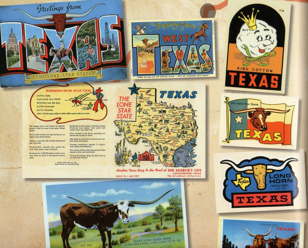 Page of Texas Postcards from Route 66 Book