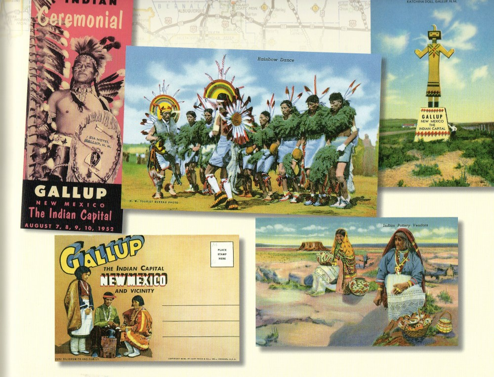Page of New mexico Postcards from Route 66 Book