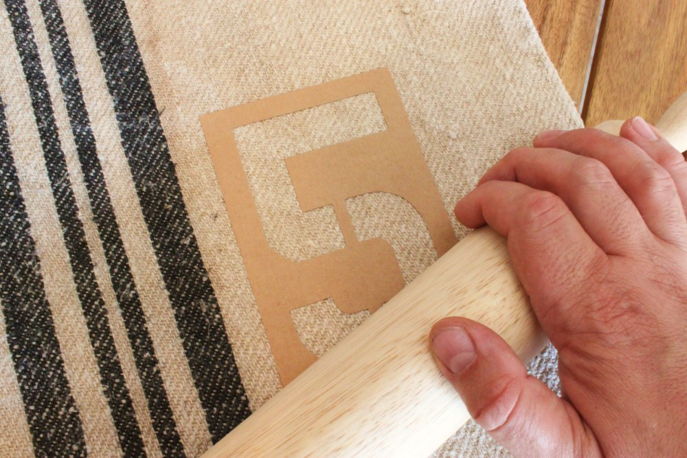 Use a Rolling Pin to Roll Down the Stencil