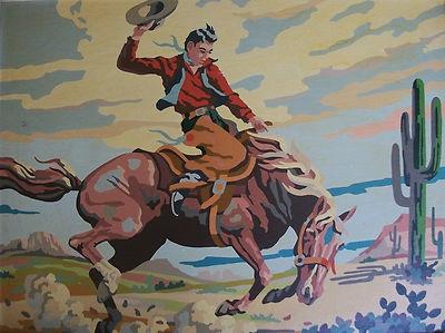 Vinatge Cowboy Paint by Number