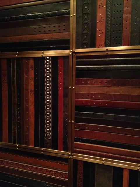 Vintage Belt walls in the Elevator