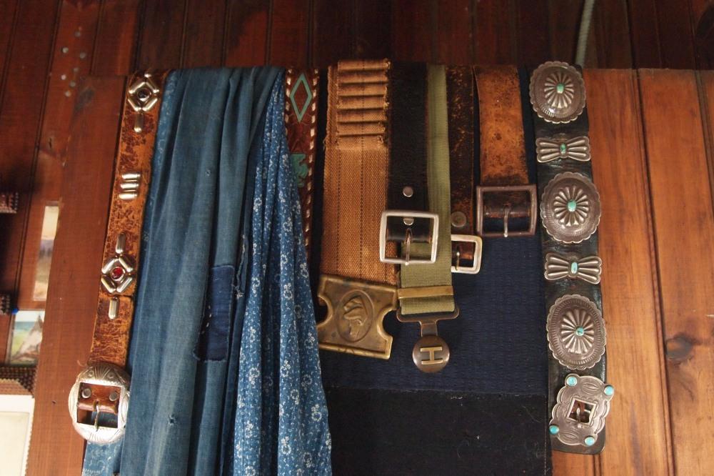 Vintage Belts Overa Door at Seaweed's Beach House
