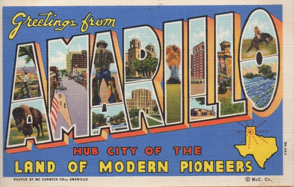 11 Amarillo Vintage Postcard