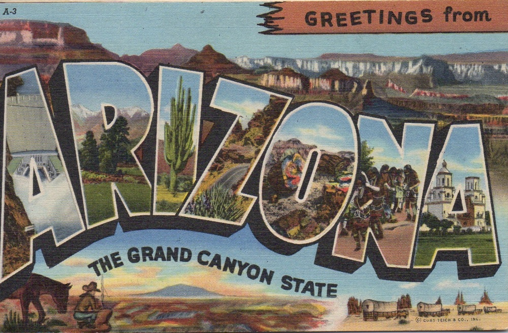 111 Arizona Vintage Postcard