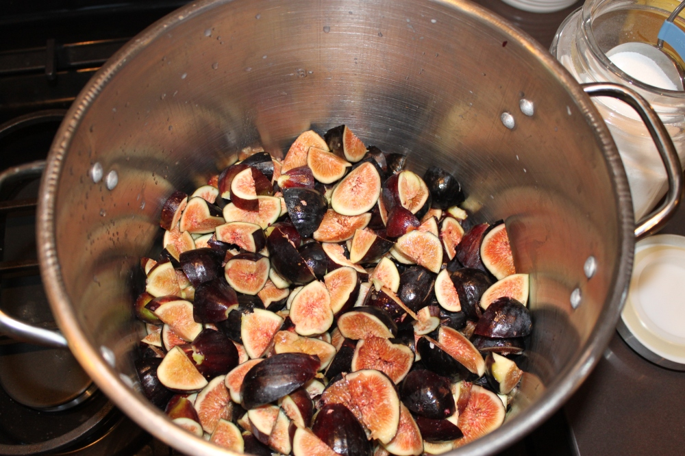 8 Pounds of Diced Figs in the Stock Pot