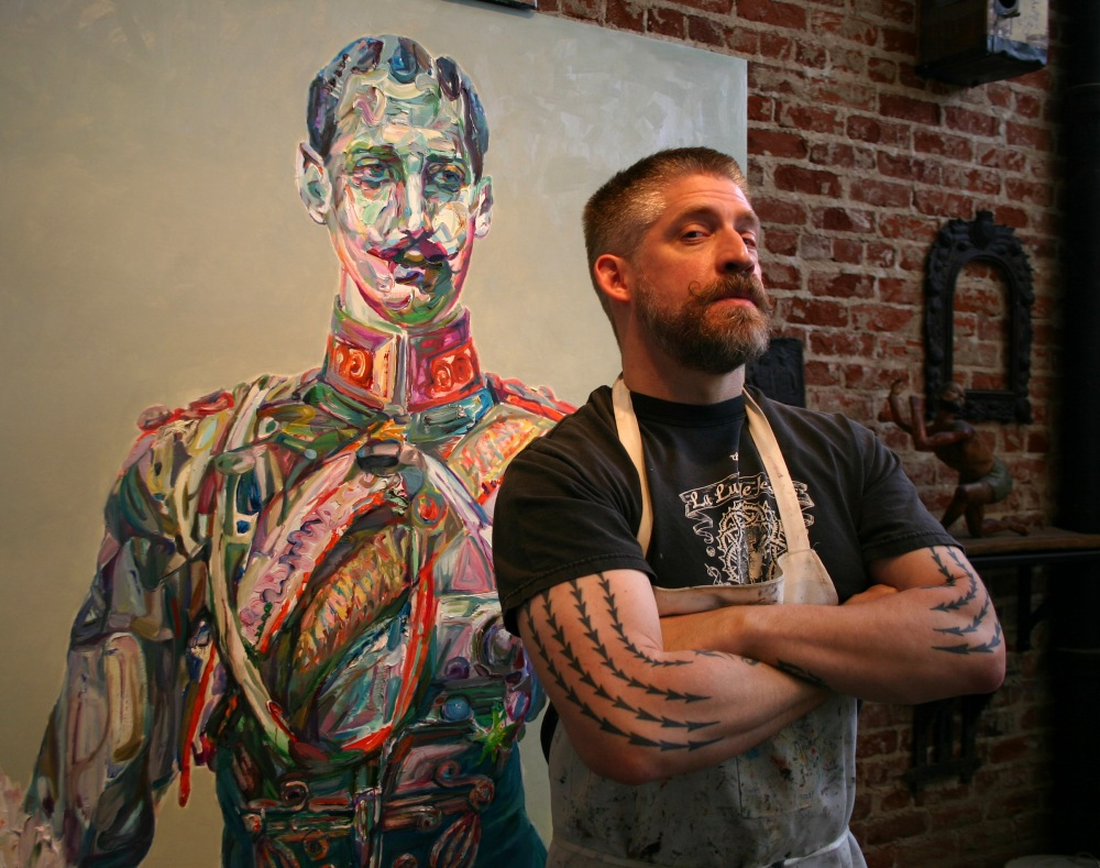 Aaron Smith in his Studio