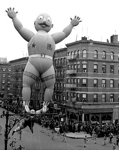 Acrobats in Macy's Parade
