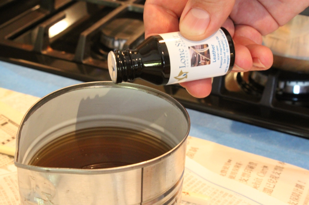 Add a Few Drops of Scented Oil into Melted Wax