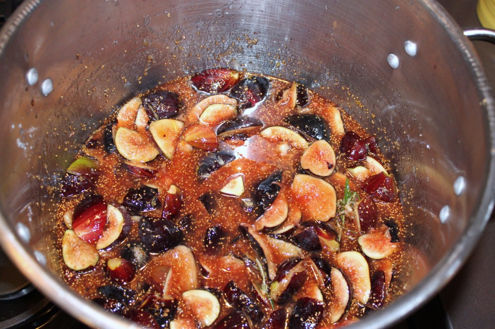 All of my Ingredients for the Fig Jam in the Pot