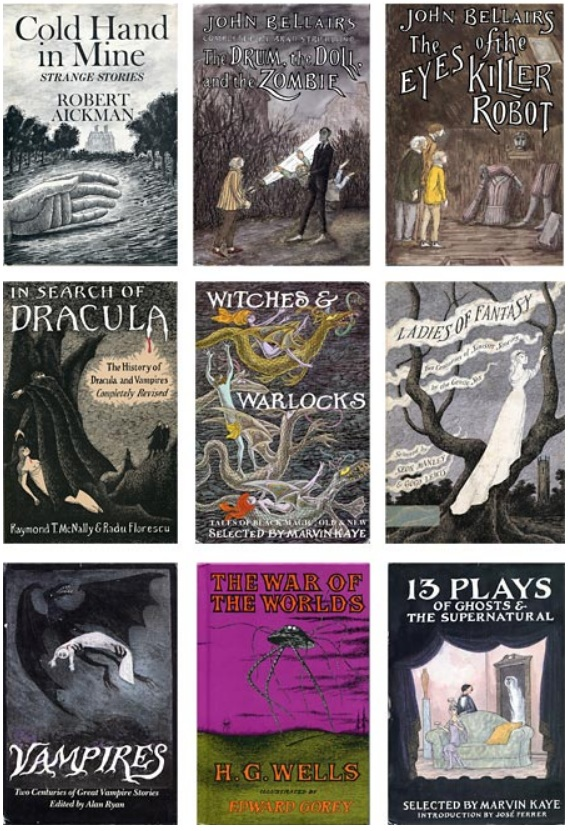 Edward Gorey Doubleday Paper Back Book Covers