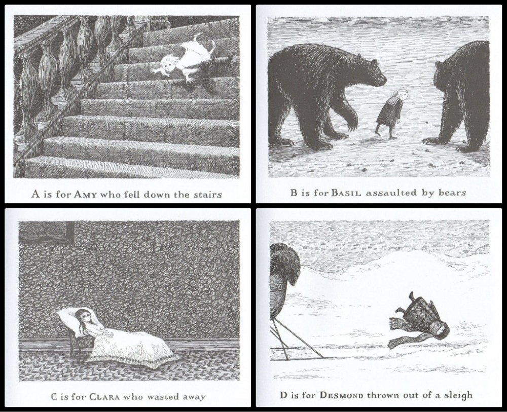 Edward Gorey Gashlycrumb Tinies Collage