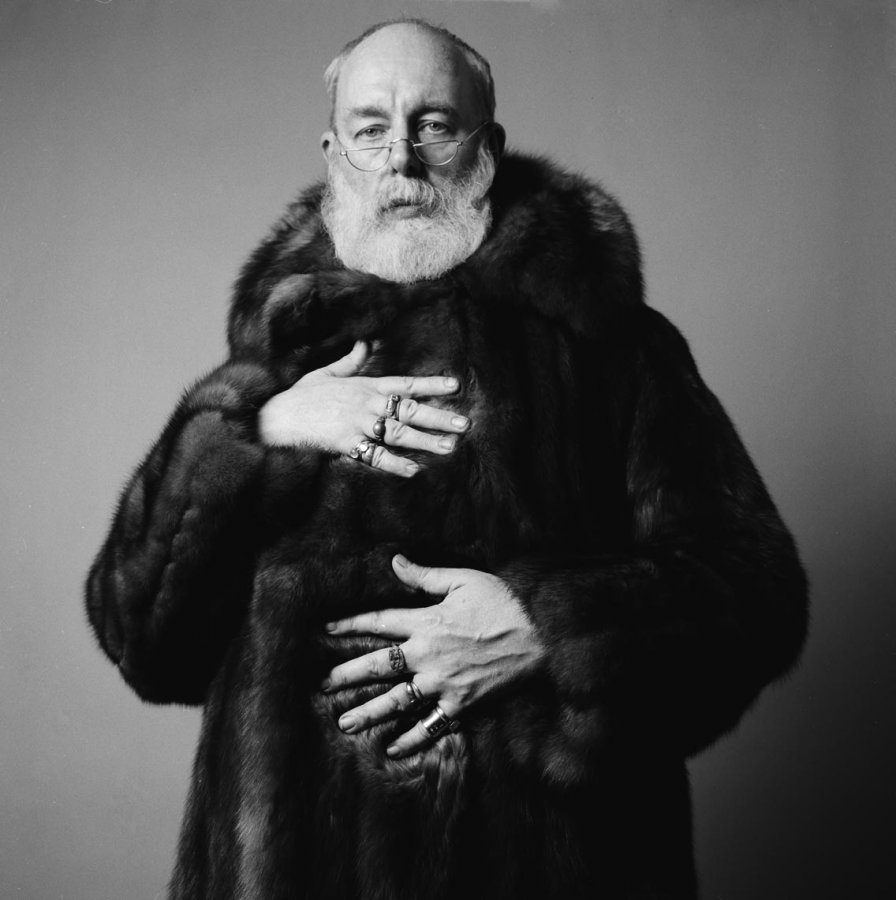 EDWARD GOREY in Fur Coat