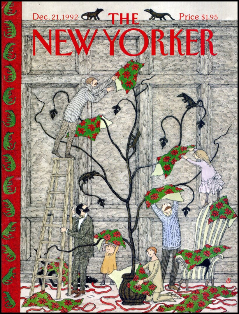 Edward Gorey New Yorker Dec 21 1992