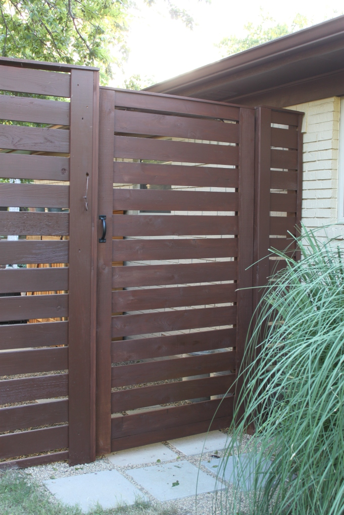 Finished Front Horizontal Slat Gate at the Cavender House