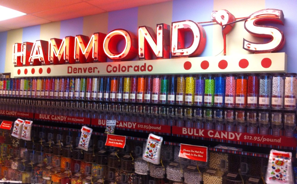 Hammond's Vintage Sign over the Candy