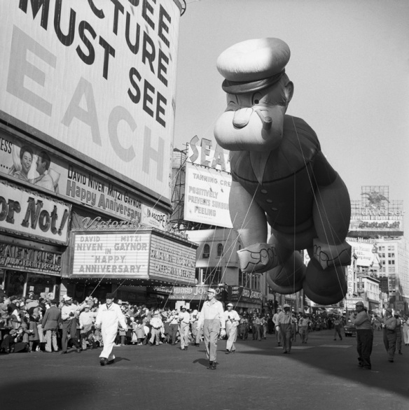 Popeyee in the Macy's Thanksgiving Day Parade