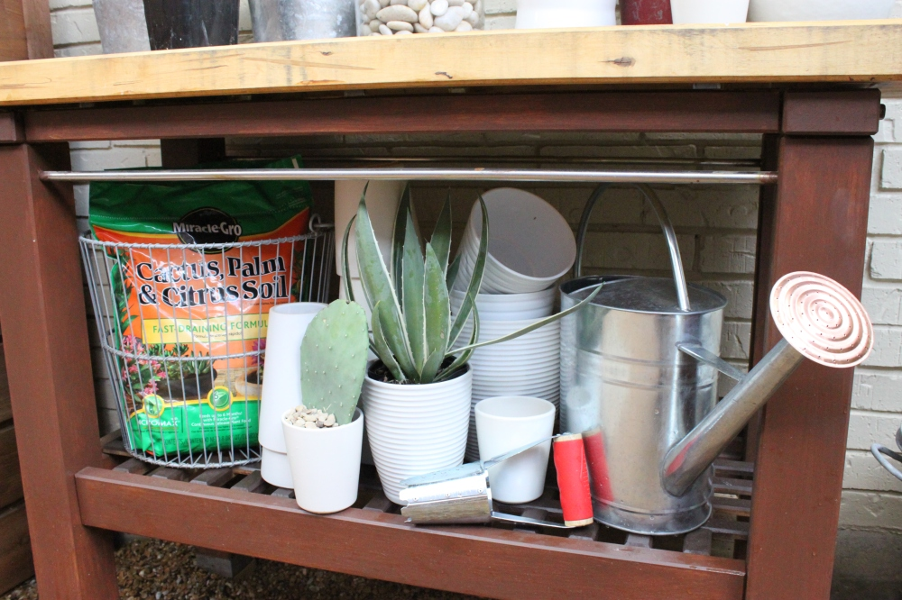 Potting Bench from Ikea with Everything We Need