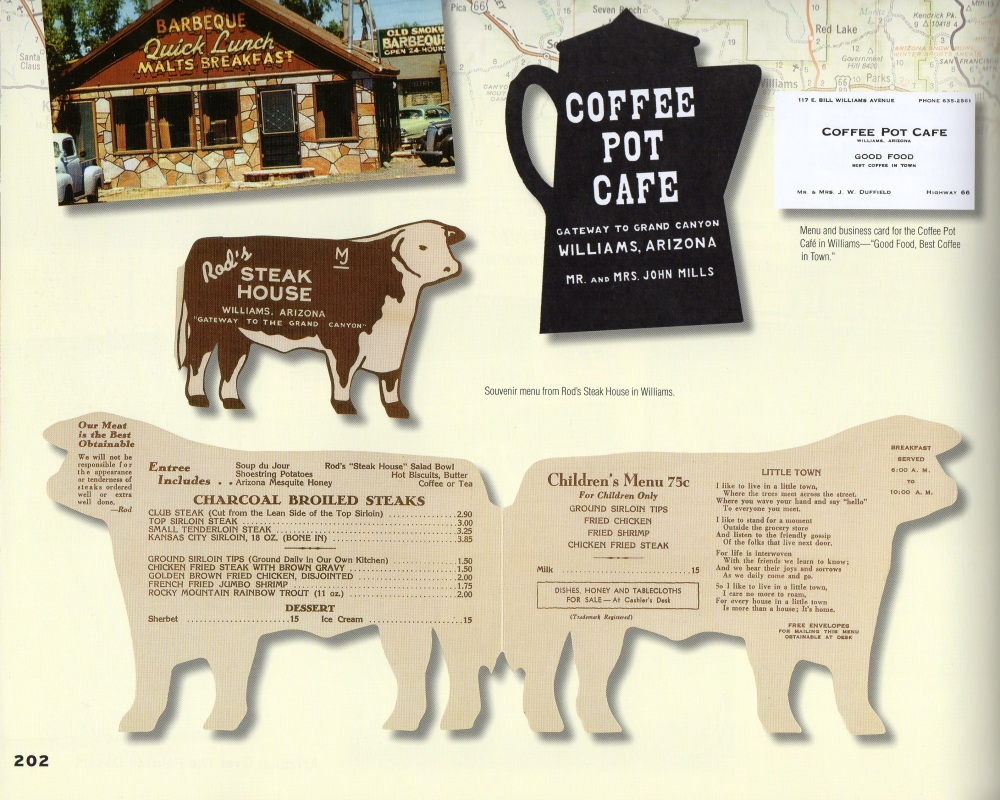 Arizona Menus from Old Route 66