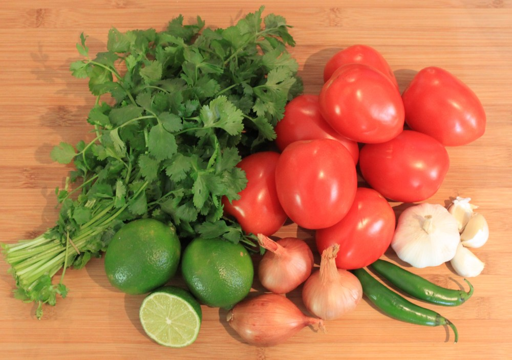All the Vegetables for Salsa
