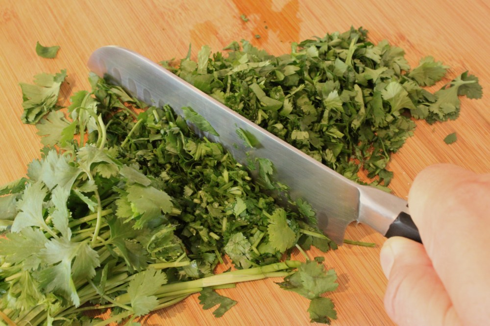 Chop the Cilantro with a Chef Knife