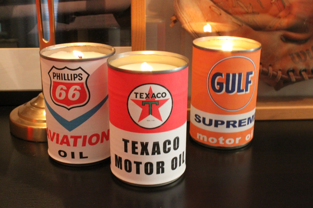 Finished Oil Can Candles