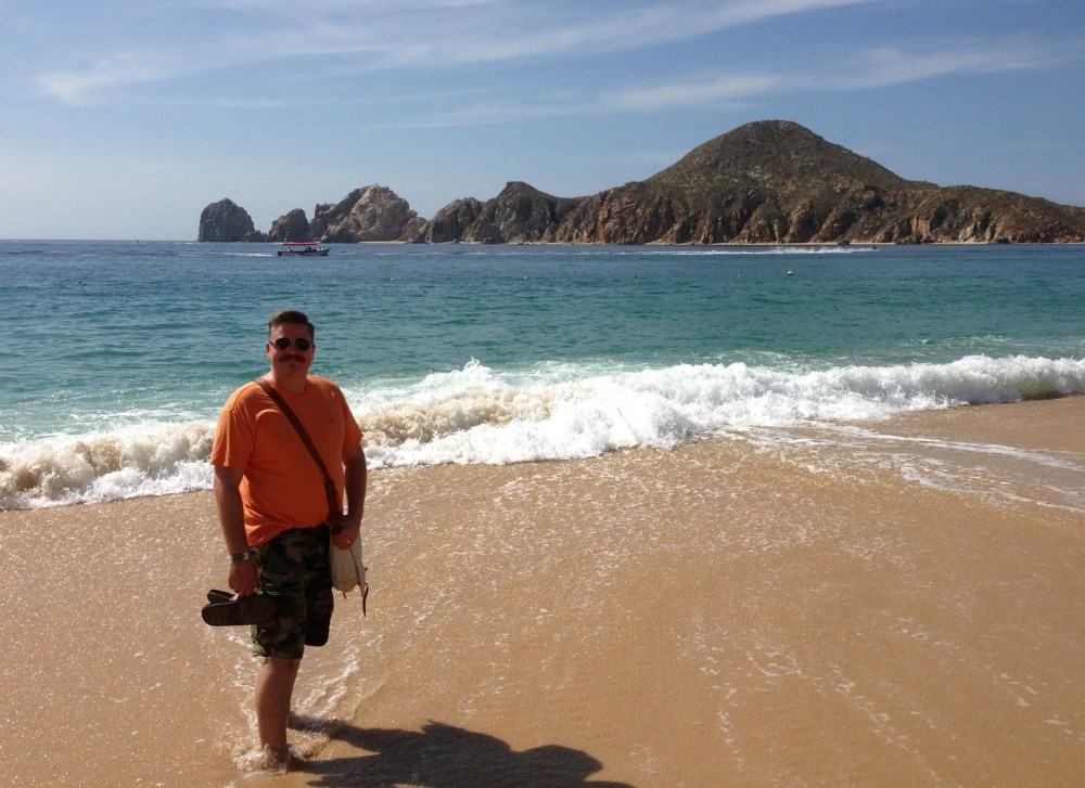 James on the beach in Cabo