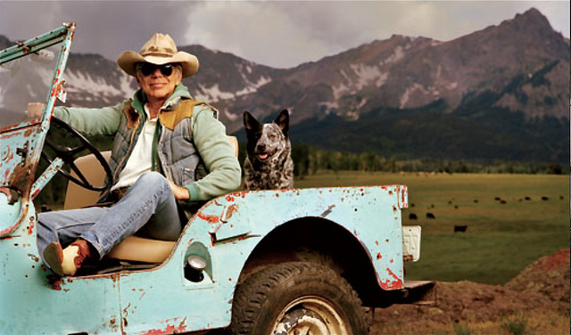 Ralph Lauren in Blue Jeep by Bruce Webber