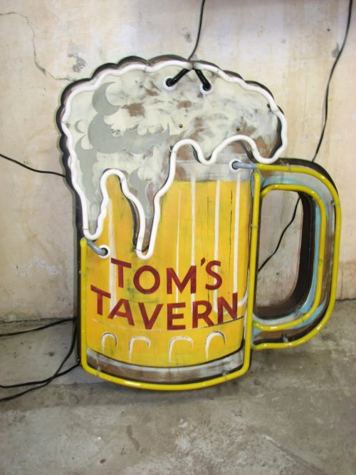 Tom's Tavern Beer Mug Neon Sign by Roadhouse Relics
