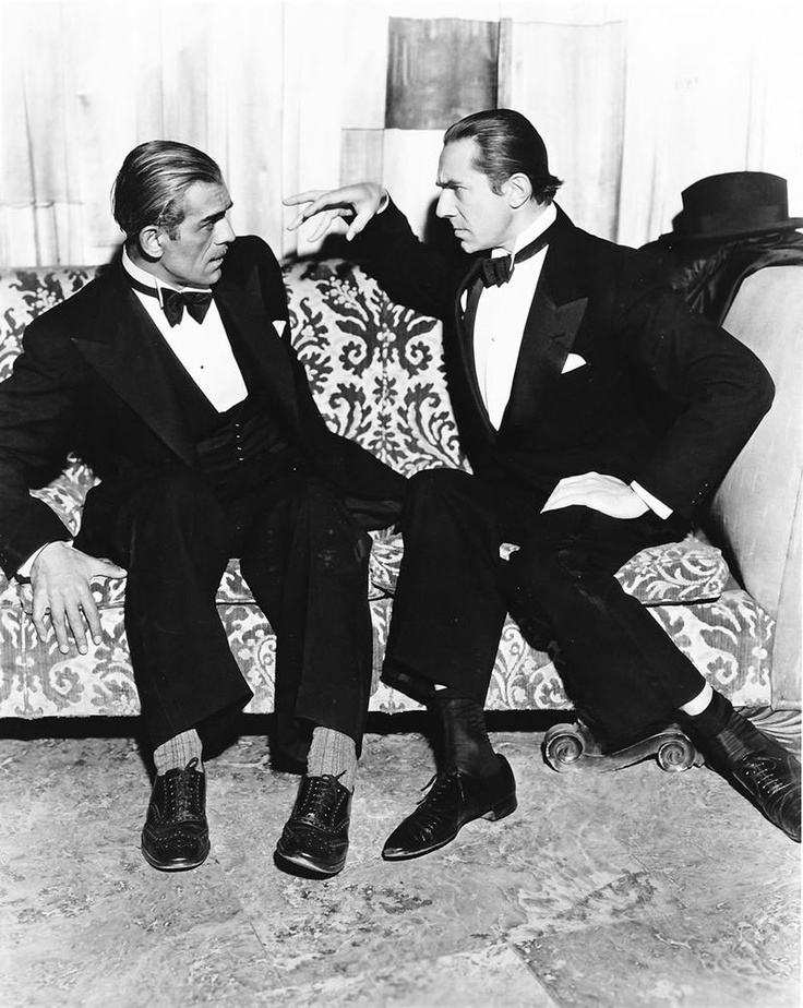 Boris Karloff and Bela Lugosi