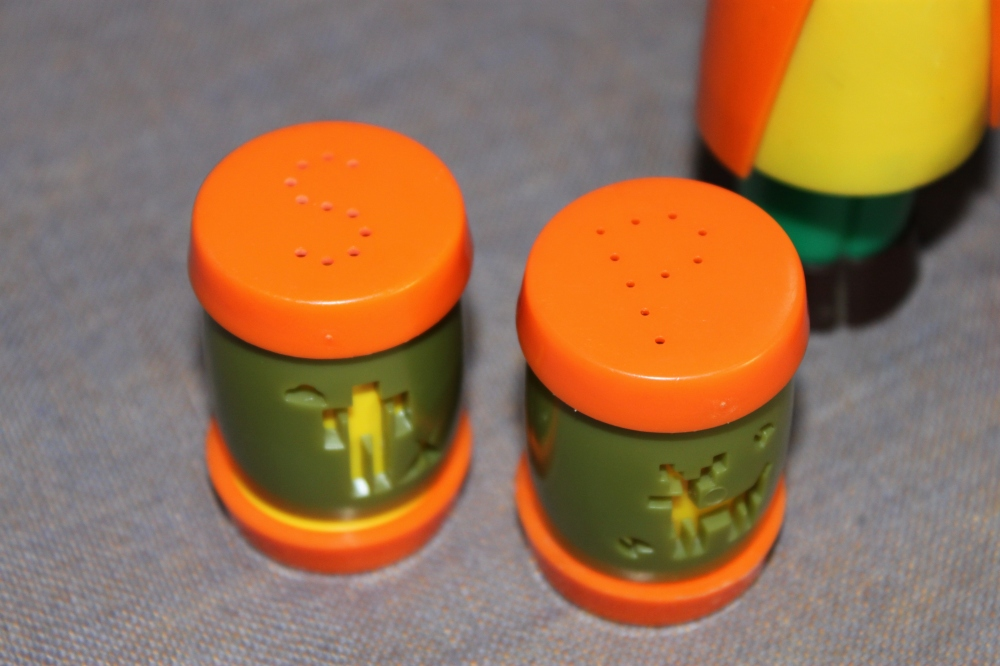Close Up of the La Sabre Indian School Salt & Pepper