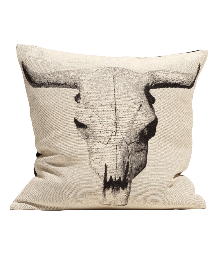 Cow Skull Pillow Cover