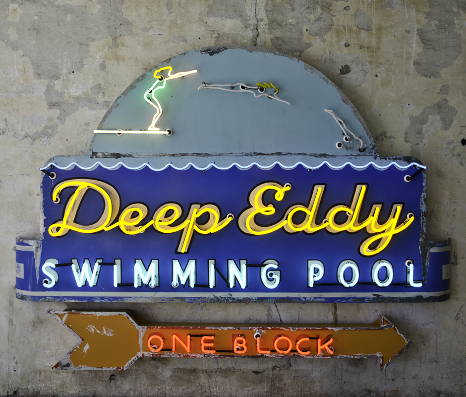 Deep Eddy Swiming Pool Neon Sign