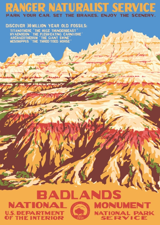 Badlands NAtional Park Poster by Ranger Doug