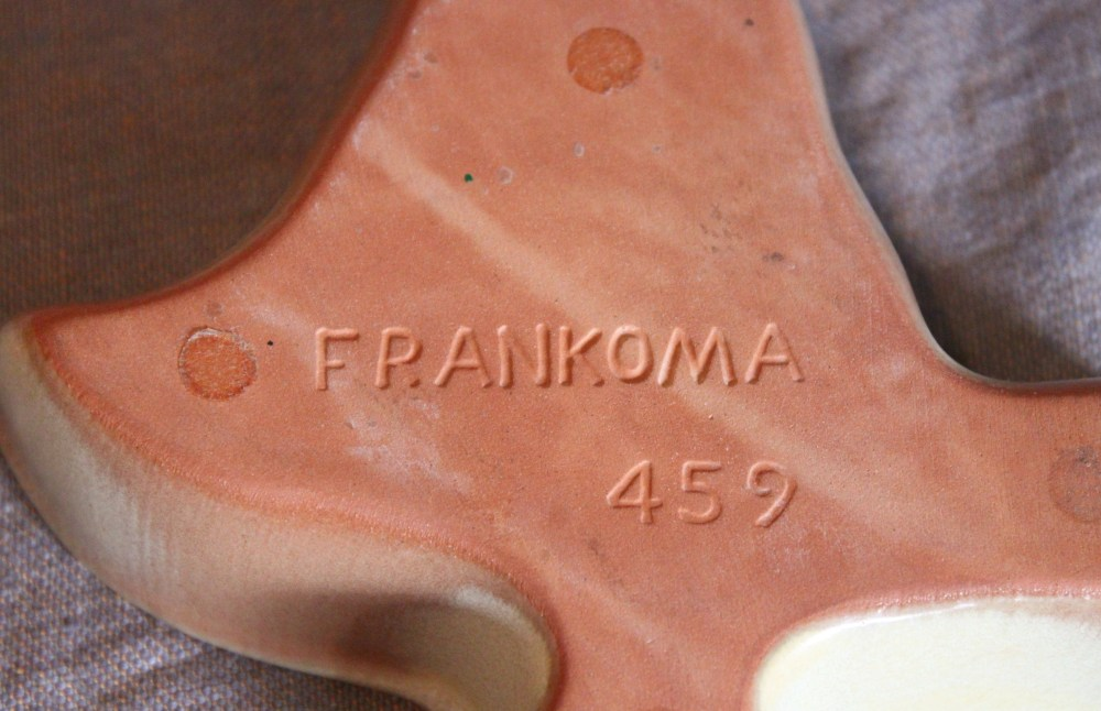 Frankoma Stamp on Back of the Ashtray