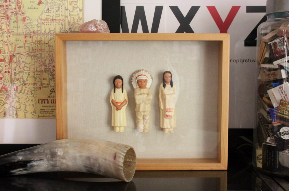 St. Labre Indian School Toys in a Shadow Box