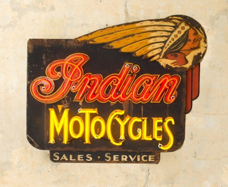 Indian Motorcycles Neon Sign by Roadhouse Relics