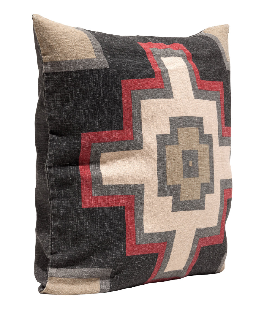 Linen Navajo Cross Pillow Cover