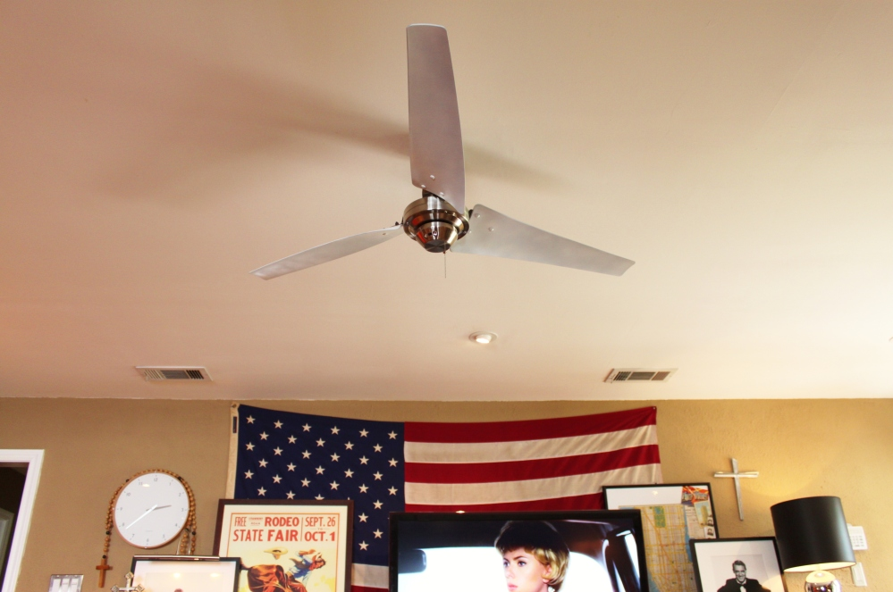 New Industrial Ceiling Fan in the Den